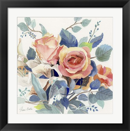 Framed Roses in Light Print