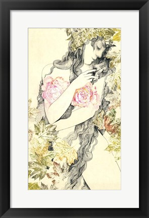 Framed Rose Girl Print