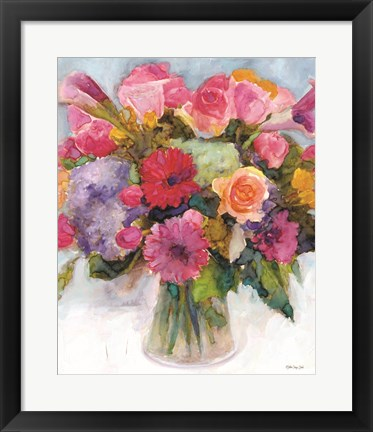 Framed Dramatic Blooms 1 Print