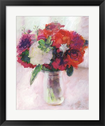 Framed Dramatic Blooms 2 Print