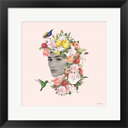 Framed Flower Girl II Print