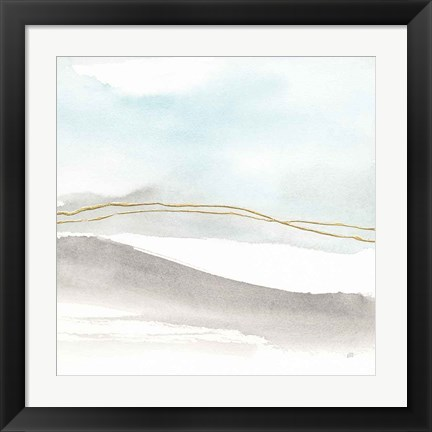Framed Gold Horizon I Print