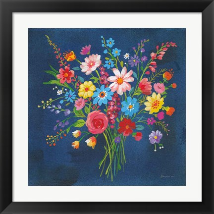 Framed Selection of Wildflowers Print