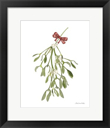 Framed Peace and Joy Mistletoe Print