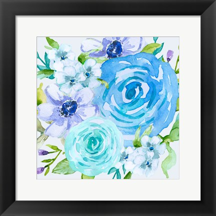 Framed Floral Intensity 1 Print
