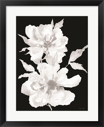 Framed Black & White Flowers I Print