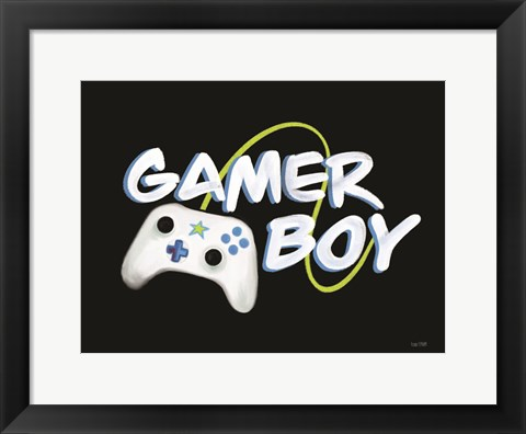 Framed Gamer Boy Print