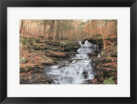 Framed Waterfall Steps at Pigeon Run Print