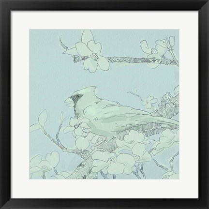 Framed Backyard Bird Sketch II Print