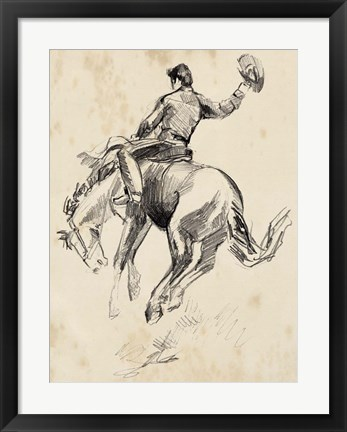 Framed King of the Rodeo II Print