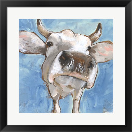 Framed Cattle Close-up I Print