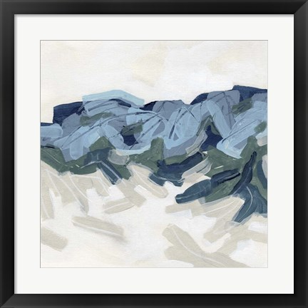 Framed Mountain Strata II Print