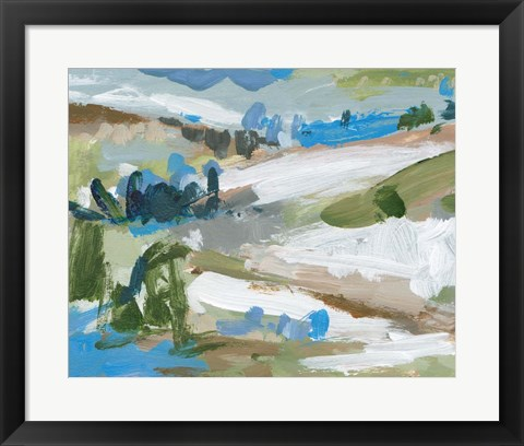 Framed Mountain River IV Print