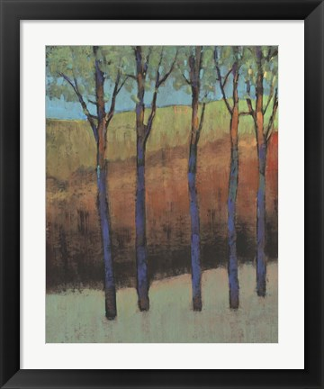 Framed Glimmer in the Forest II Print