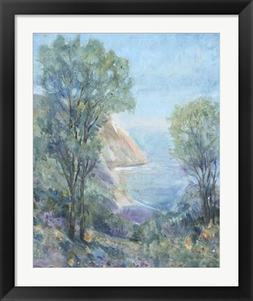 Framed Scenic View I Print