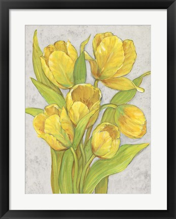 Framed Yellow Tulips II Print
