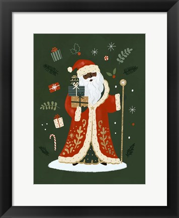 Framed Little St. Nick I Print