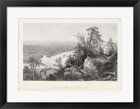 Framed Connecticut Valley from Mount Tom Print