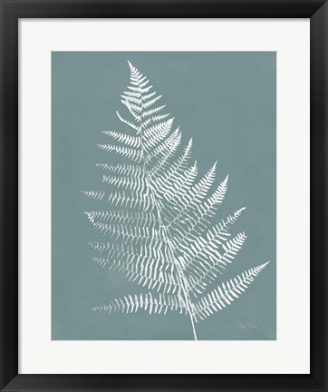 Framed Nature by the Lake Ferns VI Gray Mist Crop Print