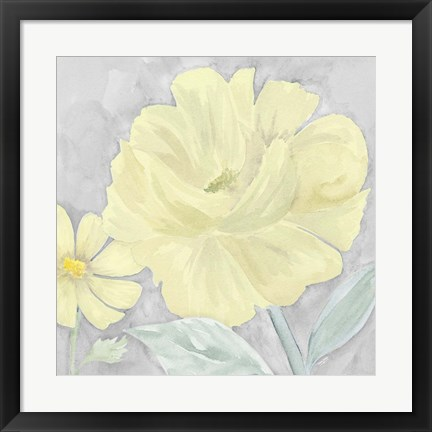 Framed Peaceful Repose Gray & Yellow IV Print