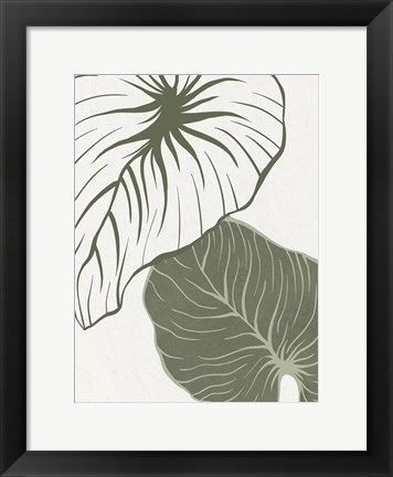 Framed Serenity Palm 1 Print