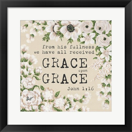 Framed Grace Upon Grace Print