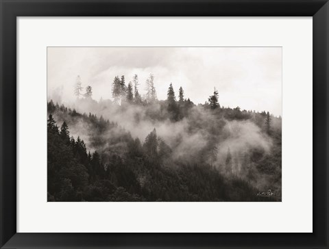 Framed Covered by Clouds Print