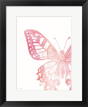 Framed Pink Butterfly I Print