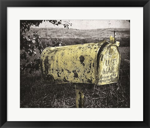Framed Yellow Mailbox Print