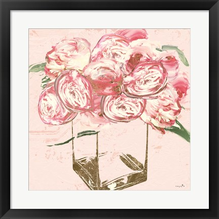 Framed Plethora of Peonies II Print