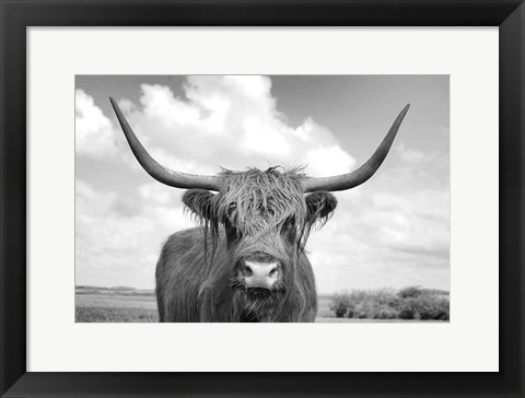 Framed On the Ranch IV BW Print