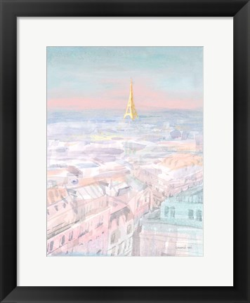 Framed Pastel Paris VI Print