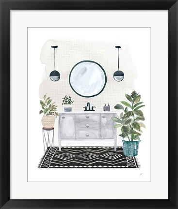 Framed Lulus Powder Room II Print