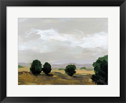 Framed Autumn Fields Print