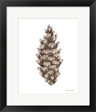 Framed Peace and Joy Pinecone Print