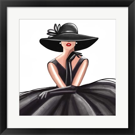 Framed Glam Gown Print