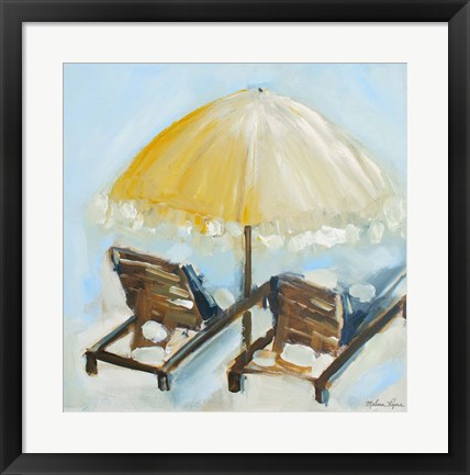 Framed Beach Chairs II Print