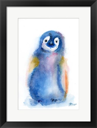 Framed Colorful Penguin Print