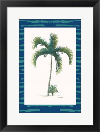 Framed Tropical Palms II Print