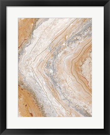 Framed Cool Earth Marble Abstract Print