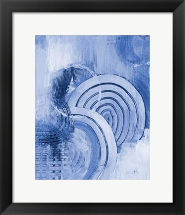 Framed Beyond Indigo Vertical Print