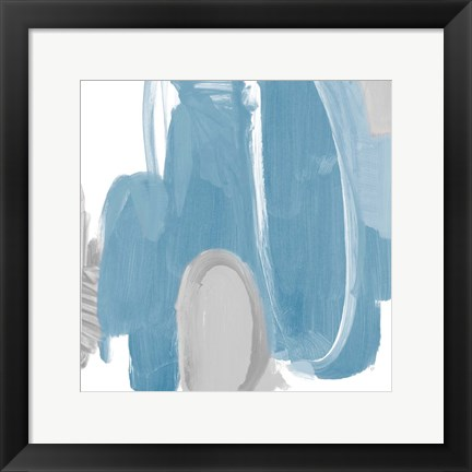 Framed Catching The Tempo Blue I Print