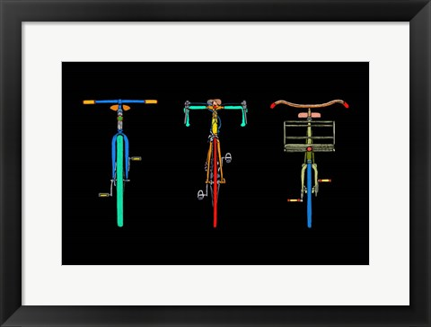 Framed Bike Trio Print
