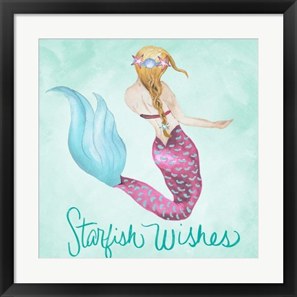Framed Starfish Wishes Print