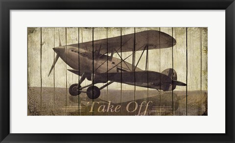 Framed Take Off Print