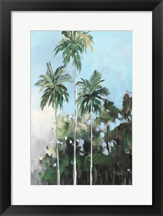 Framed Palms on the Coast Print