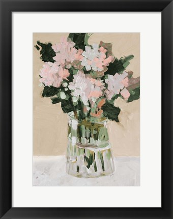 Framed Pink Flower Arrangement Print