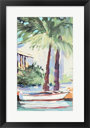 Framed Docked By The Palms Print