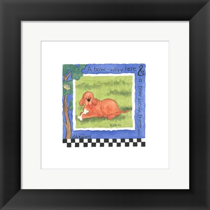Framed Bow Wow Print