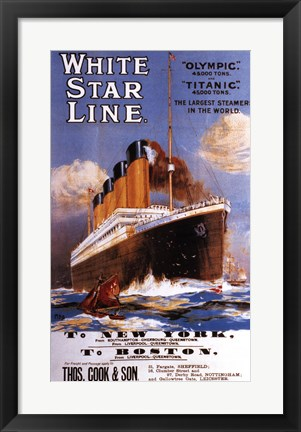 Framed White Star Lines Print